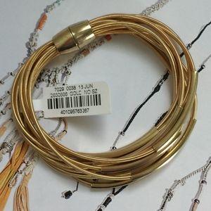 NM Gold Tone Wire Bracelet